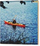 Peaceful Canoe Ride Ll Wood Print