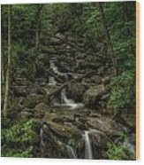 Peaceful Cascade Wood Print