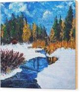Peaceful Creek 2012 Wood Print