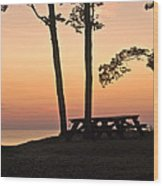 Peaceful Evening Picnic 7109 Wood Print