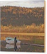 Peaceful Harding Lake Wood Print