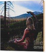 Peaceful Meditation - Nude Wood Print