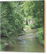 Peaceful Mountain Stream Wood Print