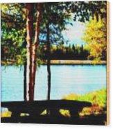 Peaceful Picnic Wood Print