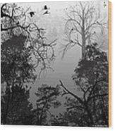 Peaceful Shades Of Gray Wood Print