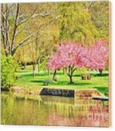 Peaceful Spring II Wood Print