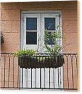 Peach Balcony Wood Print