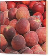 Peaches And Nectarines Wood Print