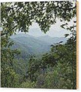 Peak At The Mountains Wood Print