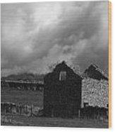 Peak District Barn Wood Print