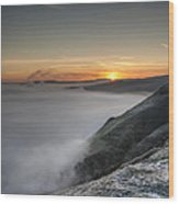 Peak District Sunrise Wood Print by Andy Astbury