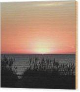 Peaking Sunrise Wood Print