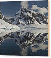 Peaks Along  Neumayer Channel Wood Print