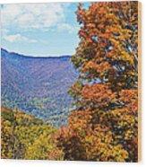 Peaks And Colors Wood Print