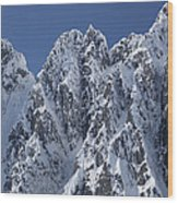 Peaks Of Takhinsha Mountains Wood Print