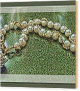 Pearl Bracelet Wood Print