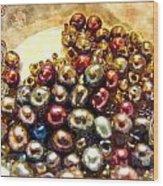 Pearls In A Pile  Art Wood Print