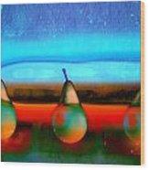Pears On Ice 01 Wood Print