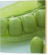 Peas In A Pod Wood Print