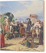Peasants Of The Campagna Wood Print