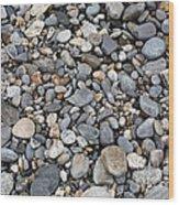Pebble Beach Rocks, Maine Wood Print