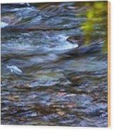 Pebbles Under Icicle Creek Washington State Wood Print