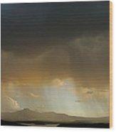Pedernal Peak, Seen In The Distance Wood Print