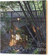 Pedestrian Bridge And Strawberry Creek  . 7d10132 Wood Print