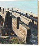 Pedestrian Bridge At Martinez Regional Shoreline Park In Martinez California . 7d10513 Wood Print