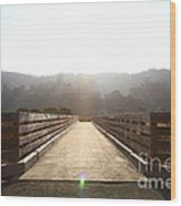 Pedestrian Bridge At Martinez Regional Shoreline Park In Martinez California . 7d10534 Wood Print