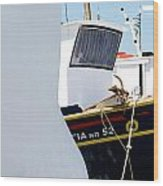 Peek-a-boat Wood Print
