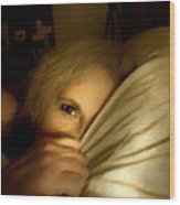 Peekaboo By Candlelight Wood Print