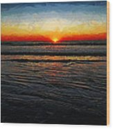 Peeking Over The Horizon Wood Print