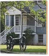 Peers House And Cannon Appomattox Court House Virginia Wood Print