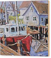 Peggy S Cove 02 By Prankearts Wood Print