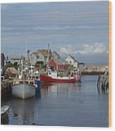 Peggy's Cove Wood Print