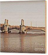 Pelham Bridge In Sepia Wood Print