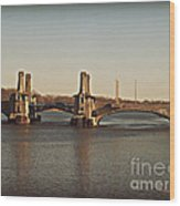 Pelham Bridge Wood Print