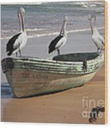 Pelican Heaven Wood Print