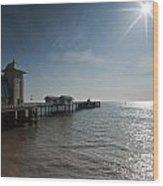 Penarth Pier Sun Wood Print
