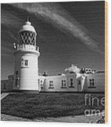 Pendeen Lighthouse Mono Wood Print