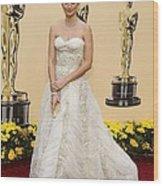Penelope Cruz Wearing A Vintage Balmain Wood Print by Everett