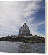 Penfield Reef Lighthouse Wood Print