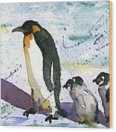 Penguin March Wood Print