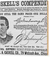 Penmanship Ad, 1887 Wood Print