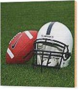Penn State Football Helmet Wood Print by Joe Rokita