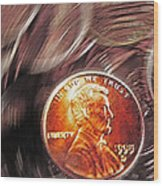 Pennies Abstract 2 Wood Print
