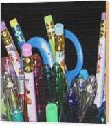 Pens And Pencils Wood Print