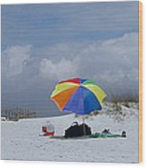 Pensacola Umbrella Wood Print