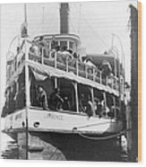 People Fleeing Galveston After Flood - September 1900 Wood Print